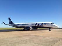 Azul linie lotnicze samolotowe Obraz Stock