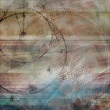 Azul llevado fondo simple de Brown del tiempo de reloj de la mirada del Grunge texturizado Fotos de archivo