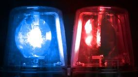 Azul & luzes de emergência de piscamento vermelhas filme