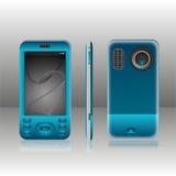 Azul móvil Fotos de archivo libres de regalías