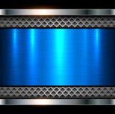 Azul metálico do fundo Fotos de Stock Royalty Free
