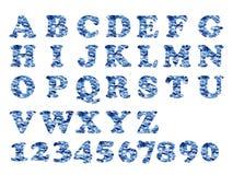 Azul militar del alfabeto Imagen de archivo
