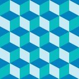 Azul misturado do teste padrão psicadélico Fotografia de Stock