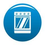 Azul moderno del icono del horno de gas stock de ilustración