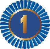 Azul ningún de la cinta 1 vector Imagen de archivo libre de regalías