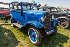 Azul Opel 1934 P4 imagens de stock royalty free