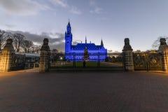 Azul para el día 2018 de los derechos humanos fotografía de archivo