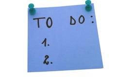 Azul para fazer a lista Fotografia de Stock