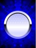 Azul patriótico del blindaje del cromo stock de ilustración