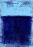 Azul pintado abstrato Imagens de Stock Royalty Free