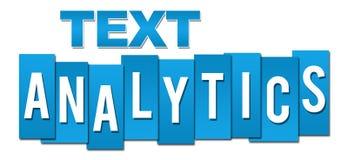 Azul profesional del Analytics del texto Foto de archivo libre de regalías