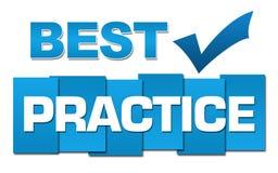 Azul profissional da melhor prática com símbolo Fotografia de Stock