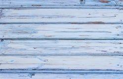 Azul rústico pintado tampo da mesa velho imagem de stock royalty free