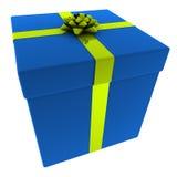 Azul rendido presente con el arqueamiento amarillo libre illustration