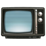 Azul retro de la TV Fotografía de archivo libre de regalías