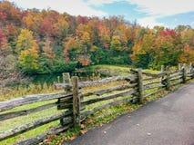 Azul Ridge Parkway North Carolina da angra de Sims imagem de stock royalty free