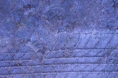 Azul a roda na areia Fotografia de Stock Royalty Free