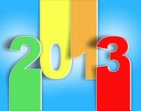 Azul rojo de la Navidad del Año Nuevo del cambio 2013 Foto de archivo