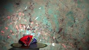 Azul rojo del diamante metrajes
