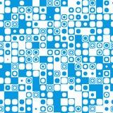Azul sem emenda do mosaico do ícone da textura do teste padrão da telha Ilustração do Vetor