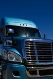 Azul semi parqueado en la representación imagen de archivo libre de regalías