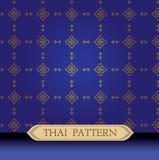 Azul tailandês do teste padrão Fotografia de Stock Royalty Free