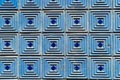 Azul velho telhas portuguesas modeladas Fotografia de Stock Royalty Free