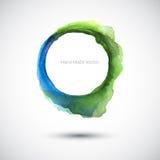 Azul verde da aquarela Fotografia de Stock