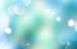 Azul verde fundo de incandescência borrado Foto de Stock