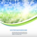 Azul-verde-mosaico-fondo-triángulo-etiqueta-producto Imagenes de archivo