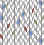 Azul vermelho da textura sem emenda de desenhos em espinha, gráfico, vetor Fotografia de Stock