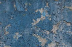 Azul viejo de la pared de la pintura del fondo Fotos de archivo