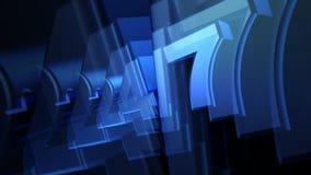 Azul vinte animação do texto quatro sete (24-7) 3D ilustração do vetor