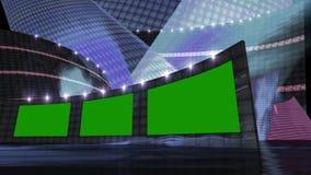 Azul virtual del sistema de las noticias del entretenimiento Fotos de archivo