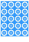 Azul y blanco ilustración del vector