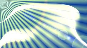Azul y blanco con la esfera del cúmulo formada y rayos solares ilustración del vector