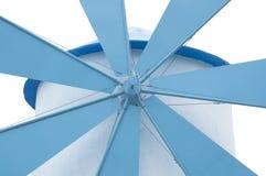 Azul y blanco del molino de viento Fotografía de archivo