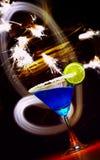Azul y chispas Fotos de archivo