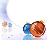 Azul y decoraciones chispeantes anaranjadas Imagenes de archivo