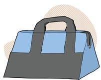 Azul y Gray Bag Foto de archivo