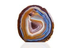 Azul y naranja de la ágata Fotografía de archivo libre de regalías