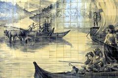 Azulejo在波尔图 免版税库存图片