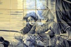 Azulejo à Porto Images libres de droits