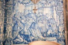 Azulejo στο μοναστήρι Santa Cruz (Κοΐμπρα) Στοκ φωτογραφία με δικαίωμα ελεύθερης χρήσης