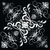 Azulejo 1 gótico de la flor stock de ilustración