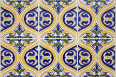 Azulejo 2. Detail pattern of Portuguese old ceramic tiles (azulejos Royalty Free Stock Images