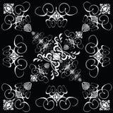 Azulejo 4 góticos de la flor stock de ilustración