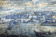 Azulejo antigo em Lisboa Fotografia de Stock