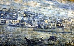 Azulejo antigo em Lisboa Imagens de Stock Royalty Free