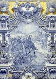 Azulejo antiguo en Lisboa Imágenes de archivo libres de regalías